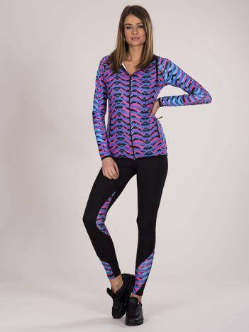 2-częściowy komplet fitness w kolorowe wzory