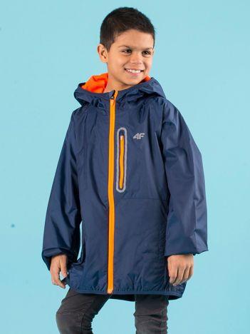 4F Granatowa chłopięca kurtka sportowa