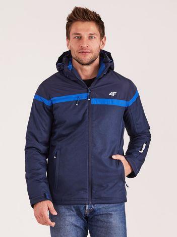 4F Granatowa męska kurtka narciarska
