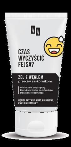 AA EMOJI Żel do mycia twarzy z węglem przeciw zaskórnikom 150 ml