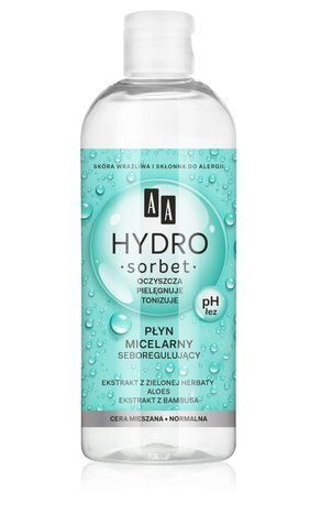 AA Hydro Sorbet seburegulujący płyn micelarny cera mieszana 400 ml