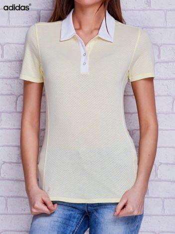 ADIDAS Jasnożółta koszulka polo