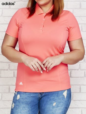 ADIDAS Różowa koszulka polo PLUS SIZE