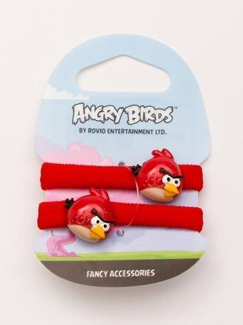ANGRY BIRDS Komplet 2 czerwonych gumek-frotek