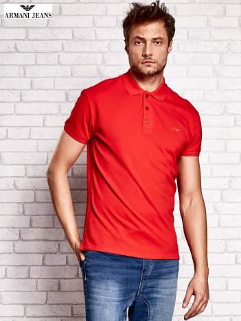 ARMANI JEANS Czerwona koszulka polo męska