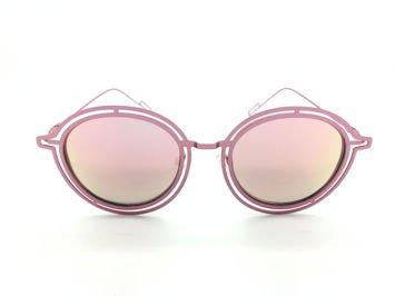 ASPEZO Okulary przeciwsłoneczne POLARYZACYJNE damskie różowe MAJORCA. Etui skórzane, etui miękkie oraz ściereczka z mikrofibry w zestawie