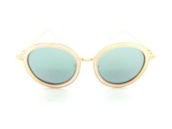 ASPEZO Okulary przeciwsłoneczne POLARYZACYJNE damskie srebrno-złote MAJORCA. Etui skórzane, etui miękkie oraz ściereczka z mikrofibry w zestawie