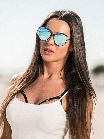 ASPEZO Okulary przeciwsłoneczne damskie POLARYZACYJNE błękitne BALI Etui skórzane, etui miękkie oraz ściereczka z mikrofibry w zestawie