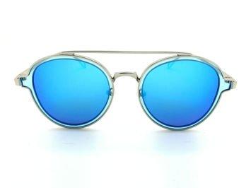 ASPEZO Okulary przeciwsłoneczne damskie POLARYZACYJNE błękitne MIAMI Etui skórzane, etui miękkie oraz ściereczka z mikrofibry w zestawie