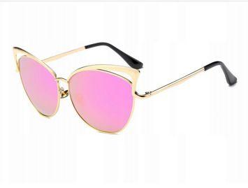 ASPEZO Okulary przeciwsłoneczne damskie POLARYZACYJNE różowe HOLLYWOOD Etui skórzane, etui miękkie oraz ściereczka z mikrofibry w zestawie