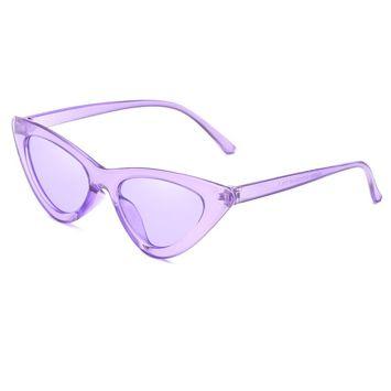 ASPEZO Okulary przeciwsłoneczne damskie purpurowe MALAGA Etui skórzane, etui miękkie oraz ściereczka z mikrofibry w zestawie