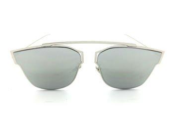 ASPEZO Okulary przeciwsłoneczne damskie srebrno-złote HAWAII. Etui skórzane, etui miękkie oraz ściereczka z mikrofibry w zestawie