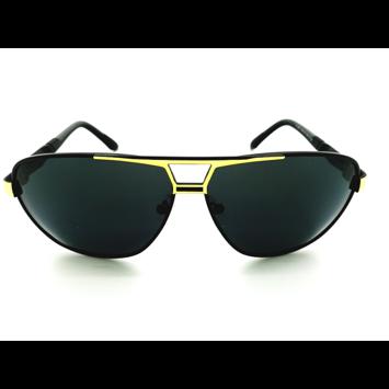 ASPEZO Okulary przeciwsłoneczne unisex POLARYZACYJNE złote FLORIDA Etui skórzane, etui miękkie oraz ściereczka z mikrofibry w zestawie