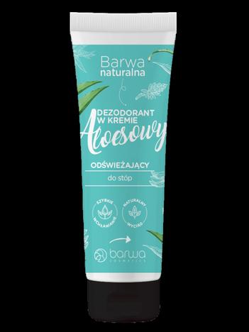 BARWA Naturalna Dezodorant Aloesowy w kremie do stóp - odświeżający 75 ml
