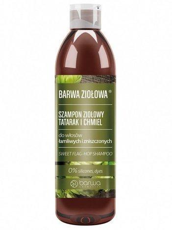 BARWA Ziołowa Szampon do włosów Tatarak & Chmiel - włosy łamliwe i zniszczone 250 ml