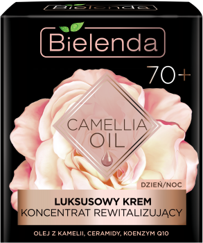 BIELENDA CAMELLIA OIL Luksusowy krem-koncentrat rewitalizujący 70+ na dzień i na noc 50 ml