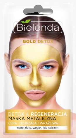 BIELENDA Gold Detox Detoksykująca maska metaliczna do cery dojrzałej i wrażliwej 8g