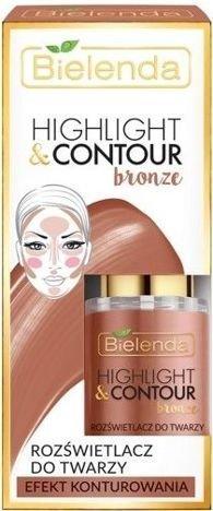 BIELENDA Highlight&Contour Rozświetlacz do twarzy Bronze - efekt konturowania 15 ml