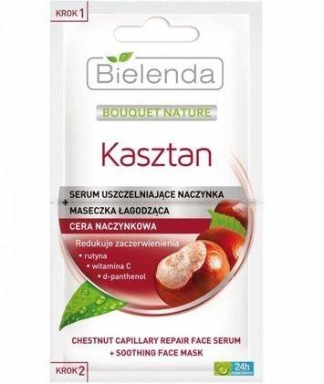 BIELENDA Kasztan Serum Uszczelniające Naczynka + Maseczka Łagodząca 2 x 5 ml