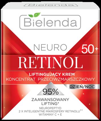 BIELENDA NEURO RETINOL Liftingujący krem – koncentrat przeciwzmarszczkowy 50+ dzień/noc 50 ml