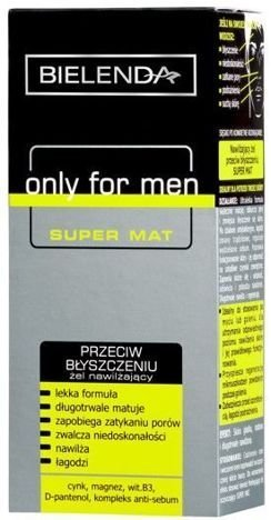 BIELENDA ONLY FOR MEN Żel nawilżający przeciw błyszczeniu się skóry SUPER MAT 50 ml