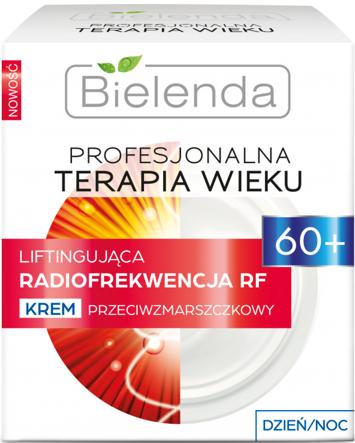 BIELENDA PROFESJONALNA TERAPIA WIEKU Liftingująca Radiofrekwencja RF Krem przeciwzmarszczkowy 60+ dzień/ noc 50 ml