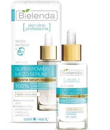 BIELENDA SKIN CLINIC PROFESSIONAL Aktywne serum nawilżające ANTI-AGE dzień/ noc 30 ml