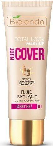 BIELENDA TOTAL LOOK MAKE-UP Nude Cover Fluid Kryjący jasny beż 01 30 g