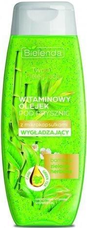 BIELENDA Twoja Pielęgnacja Witaminowy olejek pod prysznic z mikrokapsułkami WYGŁADZAJĄCY Bambus i Zielona herbata 400 ml
