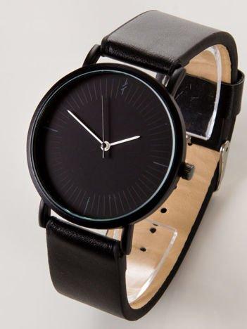 BLACK CLASSY czarny zegarek damski z czarną tarczą