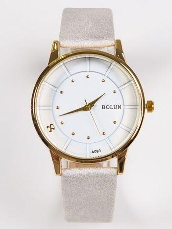 BOLUN przepiękny szary zegarek damski