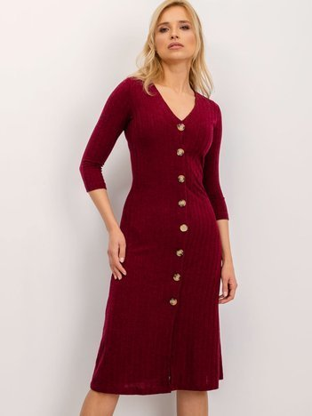 BSL Bordowa sukienka