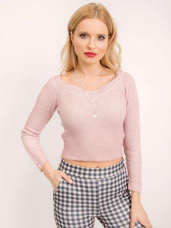 BSL Brudnoróżowy sweter damski