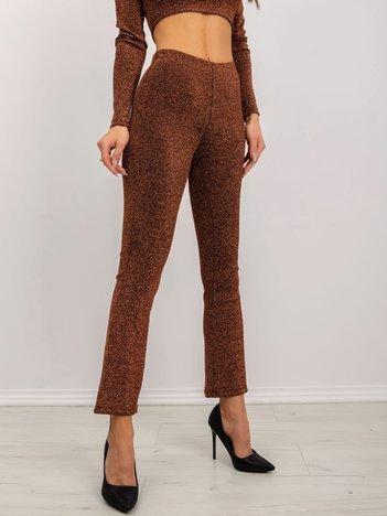 BSL Ceglaste błyszczące spodnie