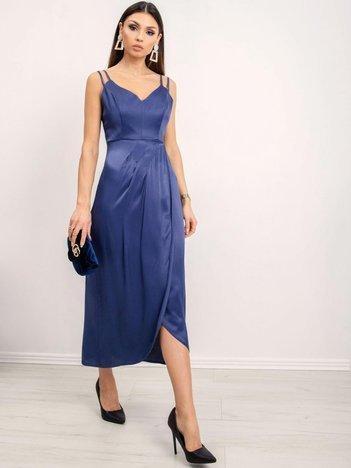 BSL Ciemnoniebieska sukienka