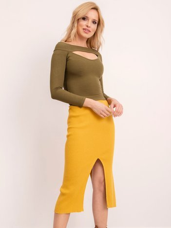 BSL Ciemnożółta spódnica