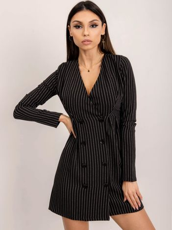 BSL Czarna sukienka w paski