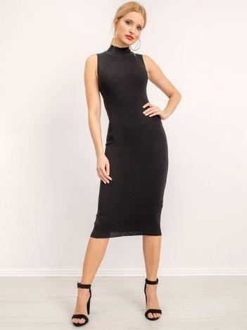 BSL Czarna sukienka z dzianiny