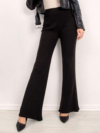 BSL Czarne dzianinowe spodnie