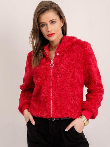 BSL Czerwona bluza damska z kapturem