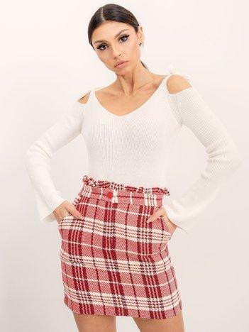 BSL Czerwono-biała spódnica w kratę