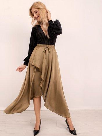 BSL Khaki spódnica asymetryczna