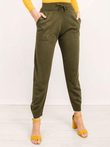 BSL Khaki spodnie z dzianiny