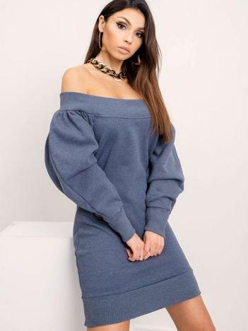 BSL Niebieska sukienka dresowa