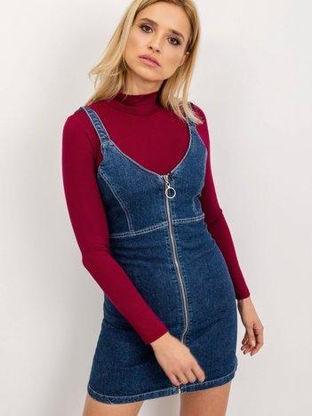 BSL Niebieska sukienka jeansowa