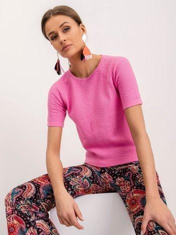 BSL Różowa bluzka dzianinowa