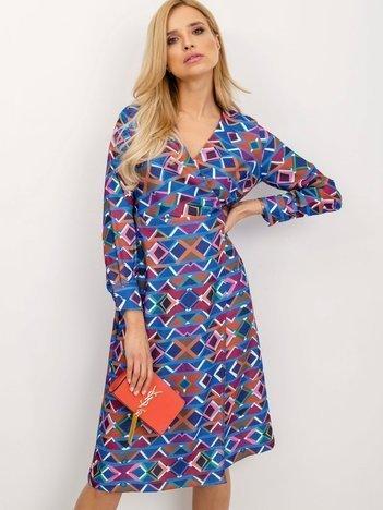 BSL Sukienka w geometryczne wzory