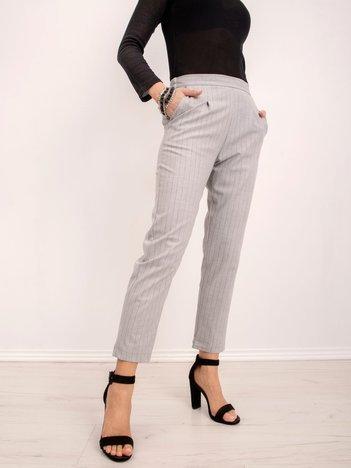 BSL Szare spodnie w paski