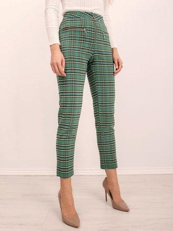 BSL Zielone spodnie w kratę