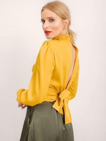 BSL Żółta bluzka z wiązaniem
